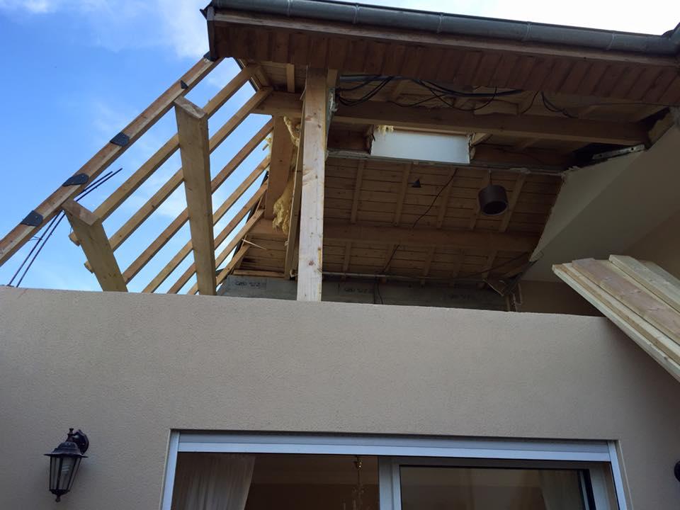 Cr ation d 39 un toit terrasse accessible sauques touraine for Cout d un toit terrasse