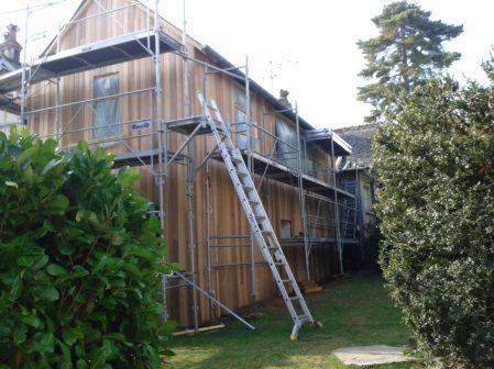 Extension de maison en construction
